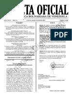 Gaceta Oficial 41608 Sumario