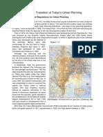 Transition of Tokyo's Urban Planning