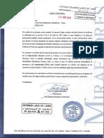 Carta de Inmobiliaria Miraflores - Caso Sodalicio
