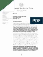 Sen. Pete Flores TEA Letter