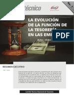 La evolución de la tesorería financiera