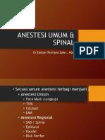 Anestesi Umum & Spinal