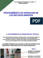 Capacitacion de Refugios Mineros