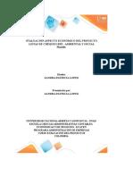 Evaluación Aspecto Económico Del Proyecto - Crema Exfoliante de Cafe