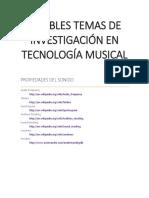 Posibles Temas de Investigación Musical
