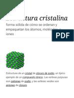 Estructura Cristalina - Wikipedia, La Enciclopedia Libre