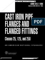Asme b16.1 - Cast Iron Pipe Flanges and Flanged Fittings (1998) Copia