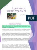 Reseña Historica Aceites Esensiales