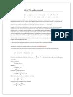 Formula Ecuaciones Cuadraticas