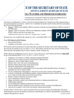 Poll Watcher Observer Guidelines