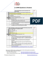 Free CAPM Answers