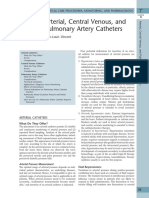 4 Arterial, Central Venous, And Pulmonary Artery Catheters