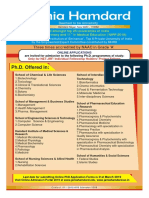 PhD Admission Notice JH