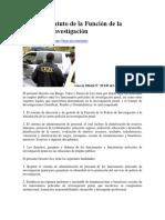 Ley Del Estatuto de La Función de La Policía De