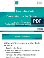 Bar Element Formulation