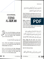 Bagian 1 Esensi Al-Qur'An