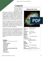 Nebulosa Del Cangrejo - Wikipedia, La Enciclopedia Libre