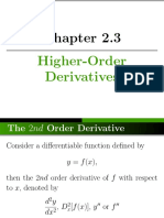 Chapter 2.3 Higher-Order Derivatives