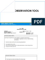 cot observation tool