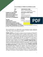 Contrato de Trabajo Operario