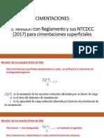 6. Revisión con Reglamento y NTCDCC (2017)