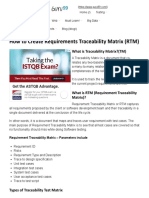 How to Create Requirements Traceability Matrix (RTM)