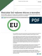 Rescatar Los Valores Éticos y Morales