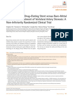 Cerebrovascular Drug-Eluting Stent Versus Bare-Metal Stent in the Treatment of Vertebral Artery Stenosis - A Non-Inferiority Randomized Clinical Trial