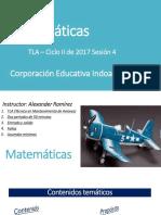 Matemáticas Clase Sesión 4 29082017