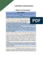 Historia, Geografía y Formación Ciudadana (8º Básico)