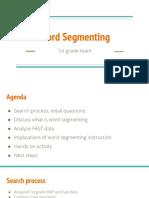 word segmenting