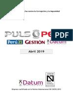 500-0119 - PULSO Abril 2019 - Coyuntura2+Lima-Sedapal+Nuevos líderes