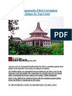 Sri Lanka Nagananda Filed Corruption Case Against Judges In Top Court.docx