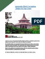 Sri Lanka Nagananda Filed Corruption Case Against Judges In Top Court.docx