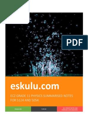 2018-grade-11-physics-notes pdf | Waves | Heat