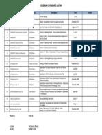 Code & Standard List