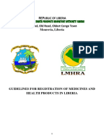 Guidelines for Registration of Medicines and Health Products in Liberia