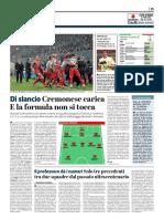 La Provincia Di Cremona 12-04-2019 - Di Slancio