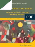 Teorias Criticas Del Sujeto_ de Freud y La - Marie-Astrid Dupret