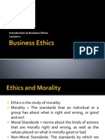 Lecture 1 Introduction to Business Ethics