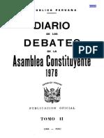 Constitución Perú 1979 - Diario de Debates - Tomo II