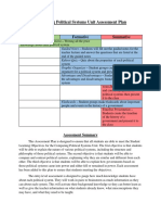 Comparing Political Systems Unit Assessment Plan