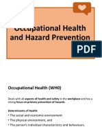 Occupational Health and Hazard Prevention
