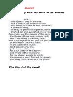 Liturgy Readings 6