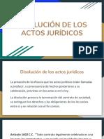 Disolución de Los Actos Juridicos