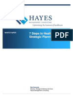 Whitepaper Hayes White Paper 7 Steps to Healthcare Strategic Planning