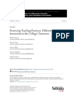Differentiated Instruction in the College Classroom