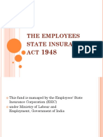 The Employees State Insurance Act 1948