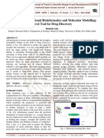 Review on Computational Bioinformatics and Molecular Modelling Novel Tool for Drug Discovery