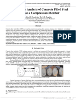 Comparative Analysis of Concrete Filled Steel Tube as a Compression Member
